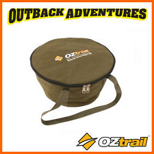 OZTRAIL CANVAS 9 QUART CAMP OVEN BAG - STORAGE & CARRY BAG WITH HANDLES