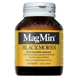 * Blackmores Magmin 100 Tablets Magnesium Supplement