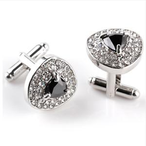 Cufflinks Gemstone Shiny Suit Accessories Formal Wear Fashion Mens Jewellery