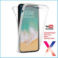 NUOVO! iPhone 360 ° FULL X Anteriore Indietro Protezione Trasparente Gel Sottile Cover Custodia in silicone