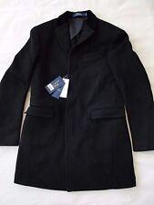 NWT $995 Polo Ralph Lauren Men's Classic 100% Wool Overcoat Black Sz M