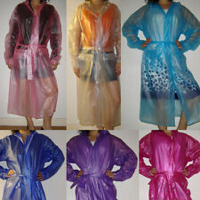 Full Length Patternless PVC Coats & Jackets for Women