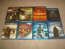 Fantasy DVD Blu-ray LOT Exodus 3D Highlander Mongol King Arthur D&D Barbarian HD