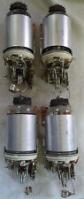 (4) Used 8643 VHF Dual Tetrode Tube with Shield and Socket on Mounting Bracket