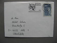 LUXEMBOURG, cover to Germany 1988, slogan canc. UIT / ITU