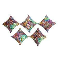 Exclusive Paisley Designer Pillow Case Home Decor Cotton Cushion Cover 5 Pcs Set