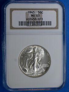 1945-D Silver Walking Liberty Half Dollar NGC MS65 Coin AI919