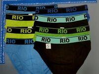 NEW 8 pairs Rio mens Cotton Hipster Briefs Underwear sizes S-XL