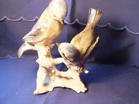 Gräfenthal Thüringen Porzellan Figur 17 cm Vogel Paar (Meisen, Fink ?)