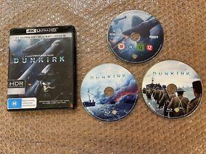 DUNKIRK (4K Ultra HD + Blu-ray) Aust. Reg B (NM) 3 X DISC Set Free Post