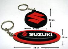 2x Suzuki Factory  Motocross Bike  Rubber Key chains / Key Ring Red Set