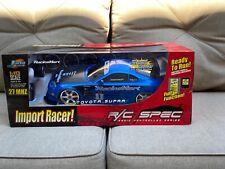 Jada Toys R/C Spec Toyota Supra 1:10 Scale Remote Control Import Racer RARE NEW