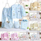 5PCS Newborn Girl Boy Clothes 0 3 Months Baby Outfits Pants Gifts Layette Set