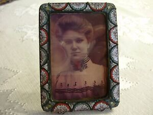 Vintage, Micro Mosaic Picture Frame