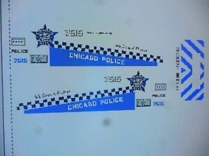 Chicago Police SUV Police Patrol  Vehicle Decals 1:24