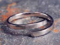 Silberring Schlicht Schmal Dezent Glatt Zirkonia Ring Silber 925 Verstellbar