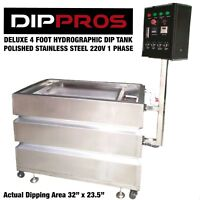 HYDROGRAPHIC DIP TANK 4' FOOT PROFESSIONAL STAINLESS WATER TRANSFER DIPPING