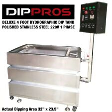 4' FOOT PROFESSIONAL STAINLESS HYDROGRAPHIC WATER TRANSFER DIP TANK DIPPING