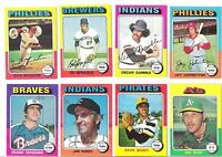 (15) 1975 TOPPS COMMONS (NM-NM/MT AND CENTERED)
