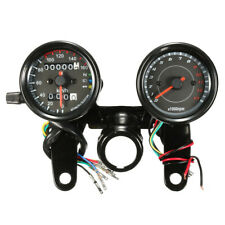 12V Universal Motorcycle LED Odometer & Tachometer Speedometer Gauge RPM