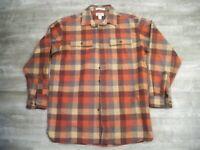 LL Bean Chamois Plaid Lumberjack Cotton Shirt Traditional MEN'S Size Large Tall