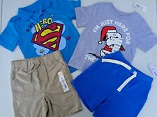 NEW Lot Baby Boys Clothes Superman T-shirt Polo Old Navy Shorts 18-24M 18m 24m