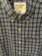 Abercrombie A&F mens Blue & White Stripe M NWT muscle-fit button-down was $68.