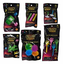 Party Glow Favors Set of 25 (Whistles, Tops, Clappers, Cars, Discs And Planes)