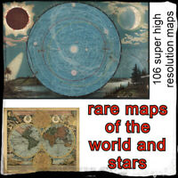 106 rare High Resolution maps & atlases of the world and stars