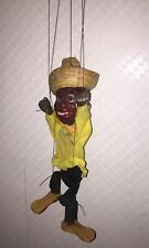 Rare Black Americana Vintage Marionette Puppet 14� Tall