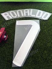 Manchester United 2007-2008 #7 Ronaldo Nameset Print Champions League Font 07-08