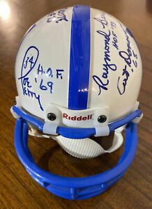 Autographed Indianapolis Colts Mini Helmet~HALL OF FAMERS~6 Signatures~L. MOORE