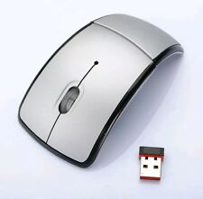 2.4GHz Wireless Foldable Optical Mouse w/USB Dongle Mice For Laptop Mac PC Grey