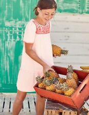 Boden Girls Embroidered Cotton Kaftan Dress Age 5-6 Years Pink Mist Bnwt