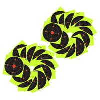 "100x Shooting Targets 8"" Reactive  Shot Rifle Paper Target Sticker"