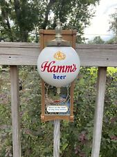 Vintage Hamm's Beer Wall Sconce Globe Lighted Sign Display Red Canoe