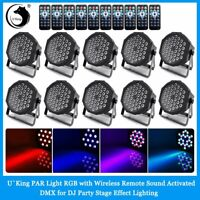 10PCS 80W RGB Par Stage Lighting 36 LED DMX DJ Disco Party Wedding Uplighting US