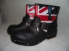 LONDON REBEL Monarch Union Jack Boots, Women's 8M. Brand New!