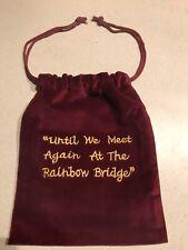 Rainbow Bridge Velvet Embroidered Urn Cremains Cremation Bag