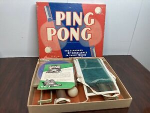1950s Vintage Parker Brothers Ping Pong Rackets Paddles Original Box Set of Two