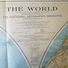 Original World Map National Geographic Magazine December 1935