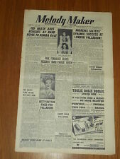 MELODY MAKER 1948 #783 AUG 7 JAZZ SWING ANDREWS SISTERS BETTY HUTTON HARRY GOLD