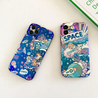 Cartoon Space Cool Soft For iPhone 12 Pro Max 11 XR XS 7 8 Plus Phone Case Cover