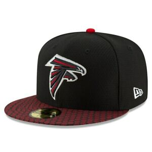 Atlanta Falcons Hat ATL New Era 59Fifty 5950 Fitted Cap Size 7-3/8 NFL Black Red