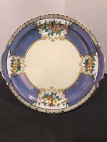 Vintage Noritake Lusterware Platter In Lavender And Florals Trimmed In Gold