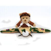 RAF Spitfire teddy bear in a plane plush pilot bear Royal Air Forces Association