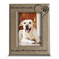 Loss of Dog or Cat- Memorial Gifts-Engraved Leather Picture Frame
