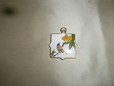 Chinese / Hindu pendant Vintage looking enamel and brass