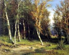 Oil painting Shishkin Ivan Ivanovich - Wood before a thunder-storm forest canvas