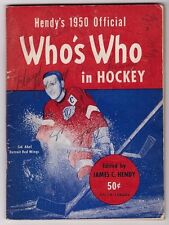 DOUG HARVEY & KEN MCKENZIE SIGNED 1950 HENDY'S WHO'S WHO IN HOCKEY 5 AUTOGRAPHS